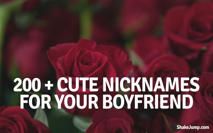 Cute love names for boyfriend