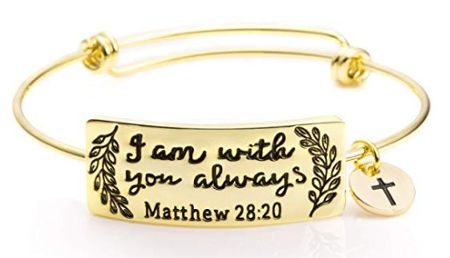I am with your always - inspirational bracelet
