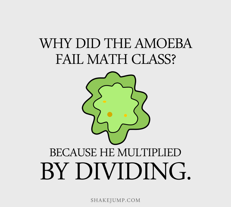 Why did the amoeba fail math class? Because it multiplied by dividing.