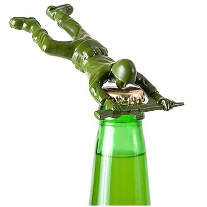 Army man bottle opener