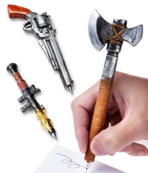 Battle axe pen