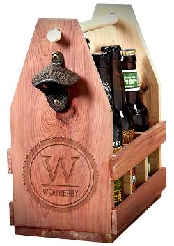 Wooden beer caddy