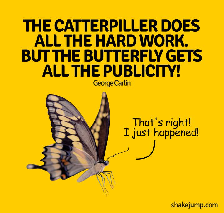 Butterfly gets publicity - George Carlin funny quote