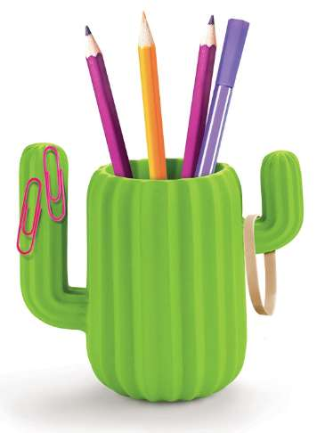 Cactus pen holder