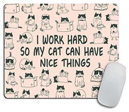 Cat can have nice things mouse pad