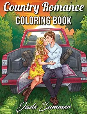 Country romance coloring book for adults