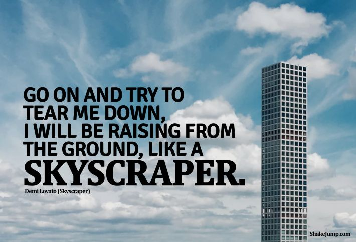 Demi Lovato - Skyscraper quote