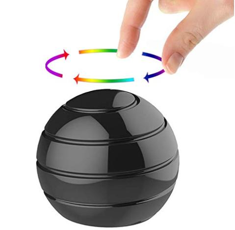 Optical illusion spinner ball
