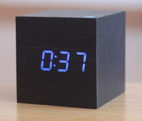Small digital wood clock