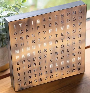 Cute electronic word clock