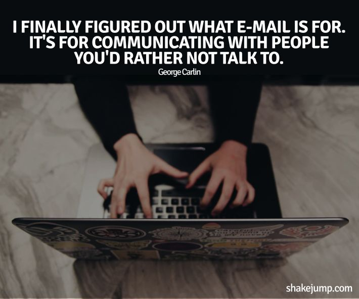 Email meaning - George Carlin funny quote