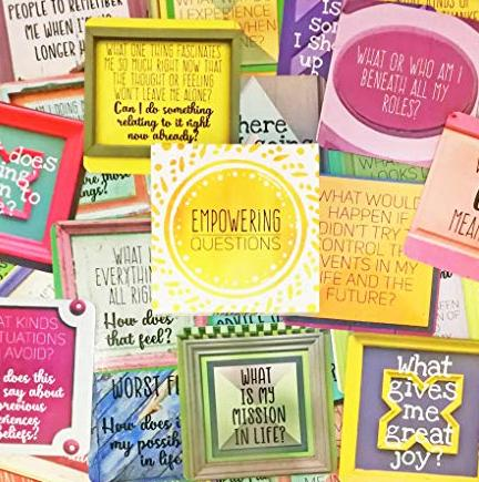 Empowering question cards - inspirational gift item