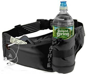Fanny pack with vertical bottle pocket