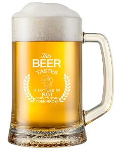 Funny beer glass