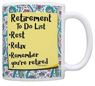 Funny retirement mug