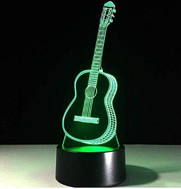 Small 3d guitar illusion lamp