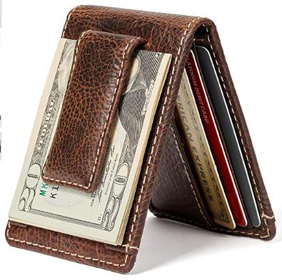 HOJ magnetic money clip wallet