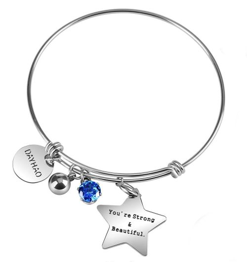 Inspirational bracelet - broken heart gift idea