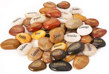Inspirational pocket stones