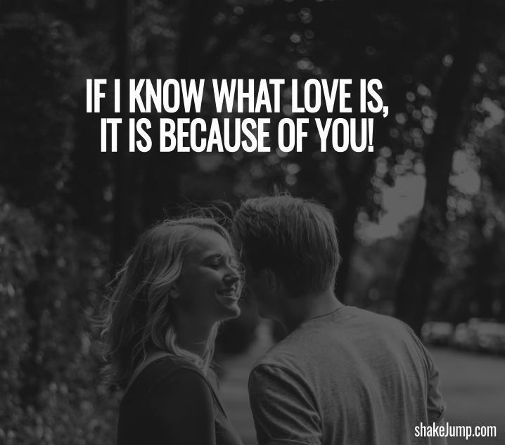 I Know Love Because of You Quote