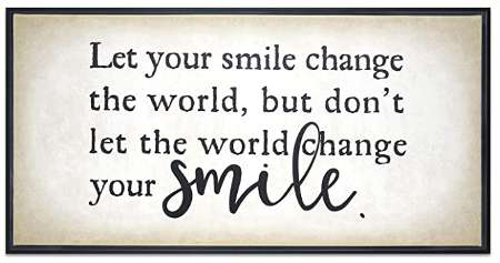 Let your smile change the world - wall art