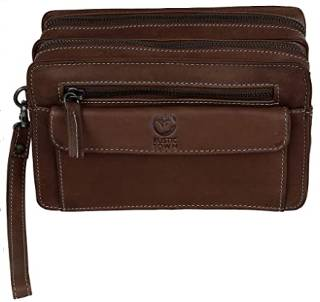 Men's leather hand pouch