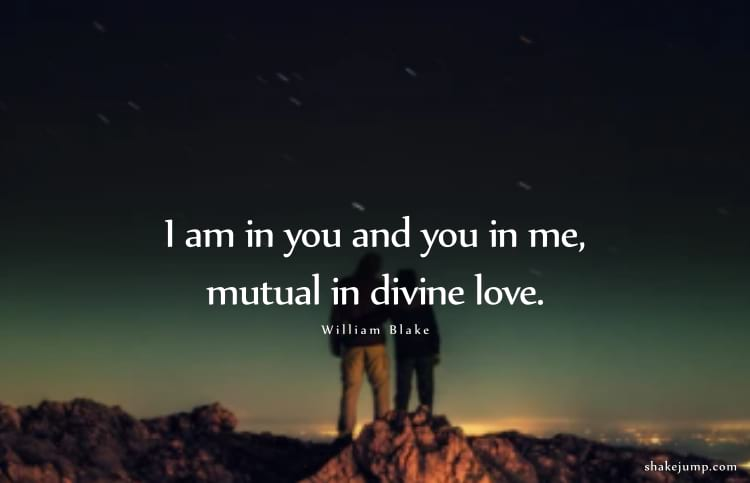 I am in you and you in me, mutual in divine love.