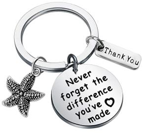 Never forget the difference you've made keychain