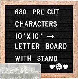 Precut letter board