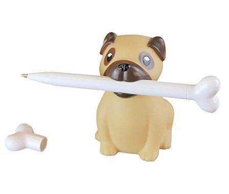 Cute pug pen holder