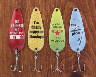 Retirement fishing hooks