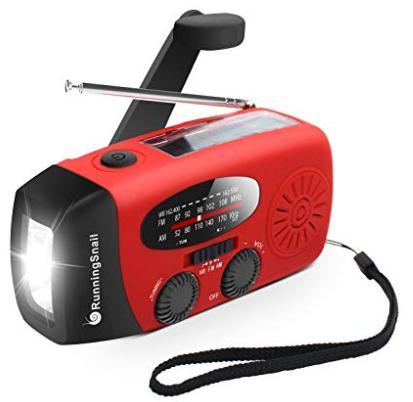 Portable radio and flash light