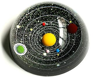 Solar system paper weight