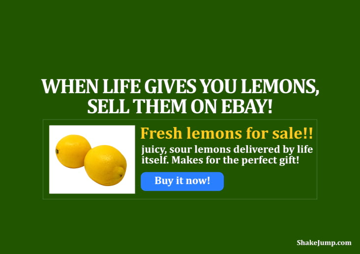 When life gives you lemons, sell them on ebay - funny quote 8