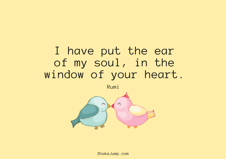 Window of your heart quote by Rumi
