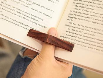 Wooden page holder