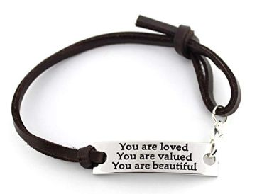 You are loved - inspirational bracelet